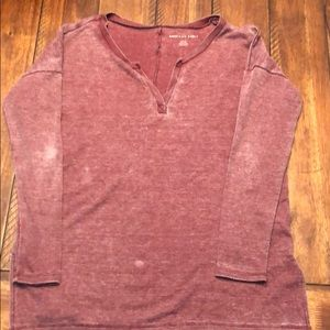 American Eagle Distressed Thermal Shirt